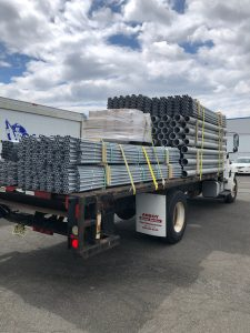 Conduit going out to a customer